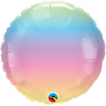 "Pastel Ombre Foil Balloon (18"" Round) 1pc"